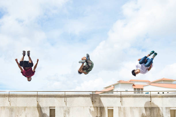 Parkour 7 stock photo