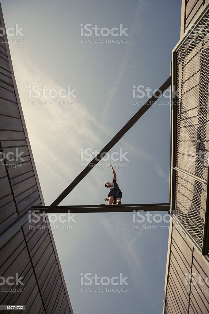 Parkour stock photo