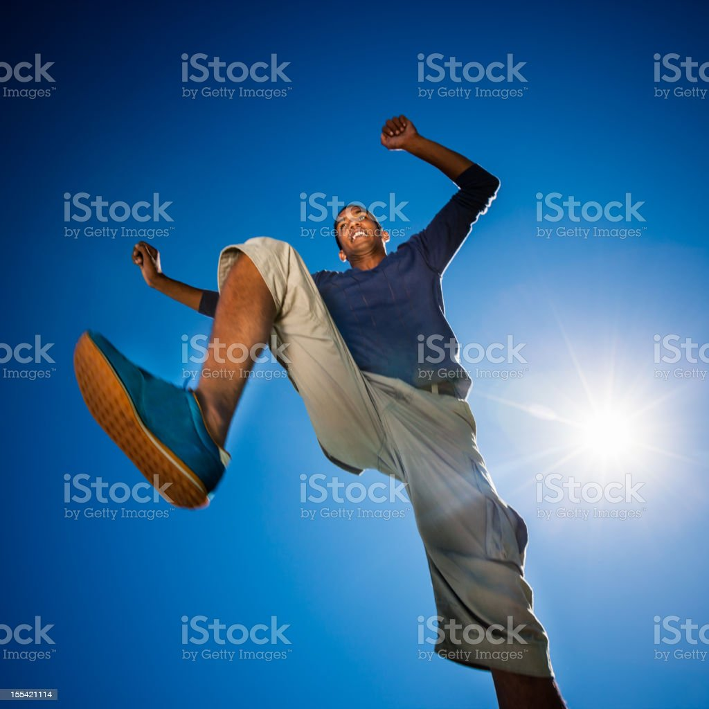 Parkour Urban Street Runner royalty-free stock photo