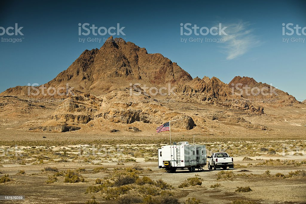 RV parks in the canyon royalty-free stock photo