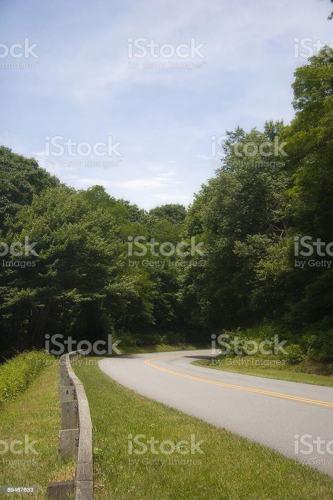 Parkway Road in North Carolina royalty-free stock photo