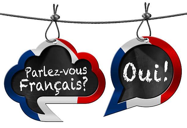 Parlez-vous Francais - Speech Bubbles stock photo