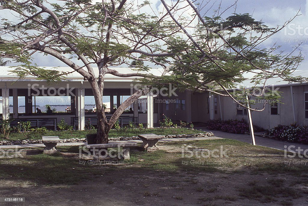 Parliament and Government Buildings Majuro Marshall Islands stock photo