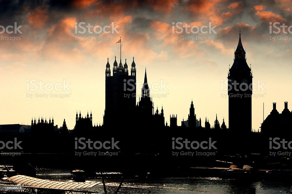 Parliament at dusk stock photo