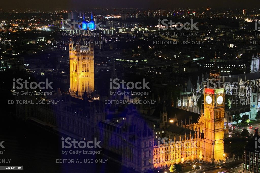 Parliament at Night stock photo