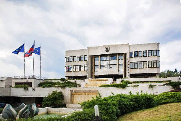 Parlamentsgebäude in Bratislava, Slowakei, Illustrationen – Foto