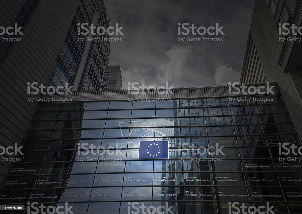 UE edificio del Parlamento en Bruselas foto de stock libre de derechos
