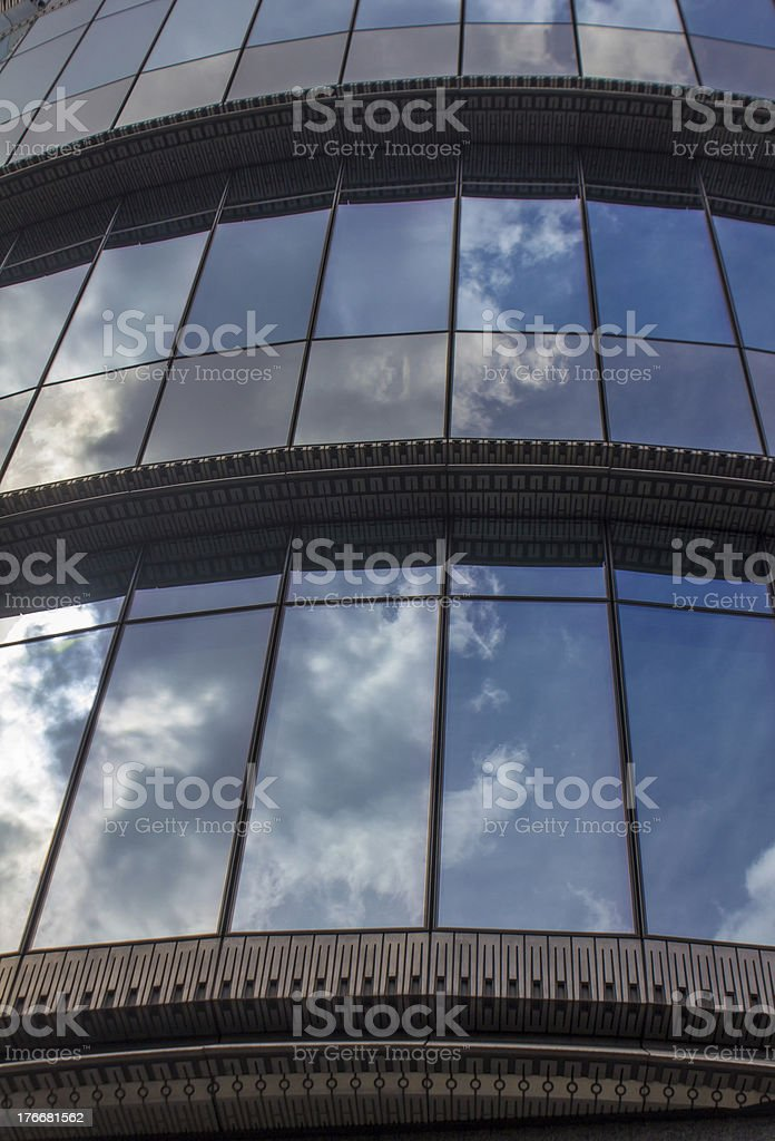 EU parliament building in brussels royalty-free stock photo
