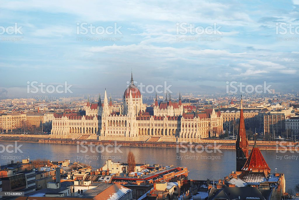 Parliament building in Budapest, Hungary royalty-free stock photo