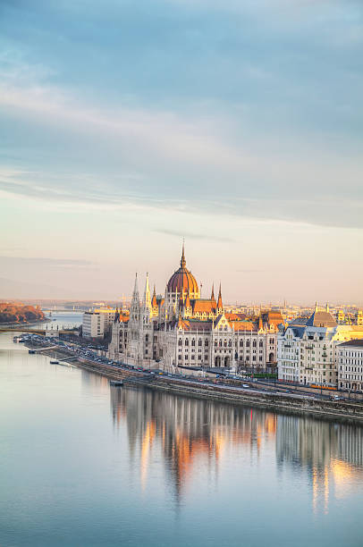 Parliament building in Budapest, Hungary stock photo
