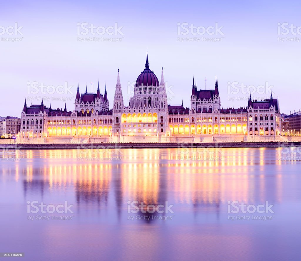 Parliament building in Budapest, Hungary. stock photo
