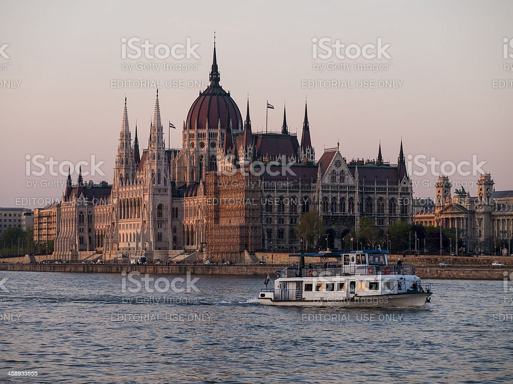 Parliament Building in Budapest royalty-free stock photo