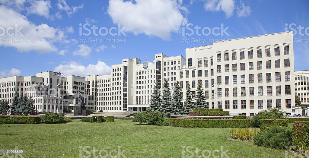 Parliament building in Minsk. Belarus stock photo