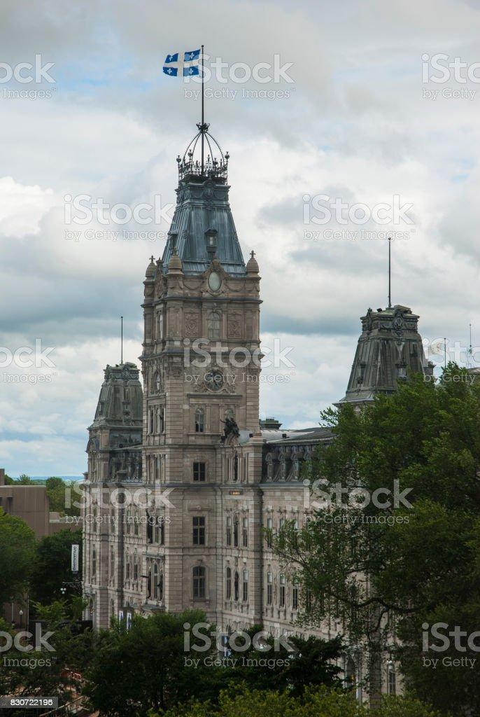 Parliament building in Quebec City stock photo