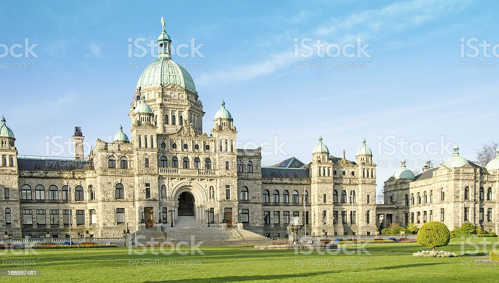 Parliament Building in Victoria, British Columbia royalty-free stock photo