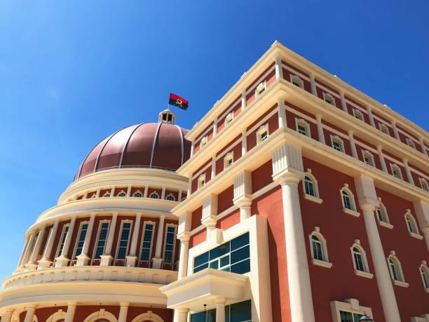 Parliament building Luanda stock photo