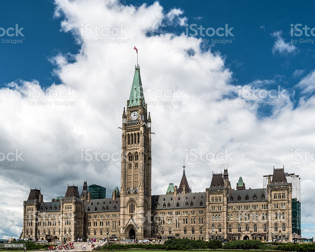 Parliament Building of Canada stock photo