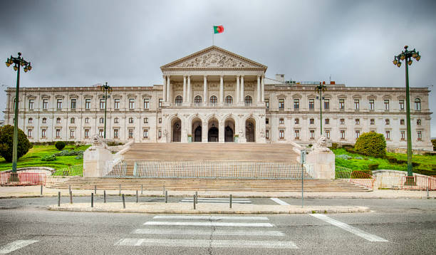 Parliament Building Of Portugal stock photo