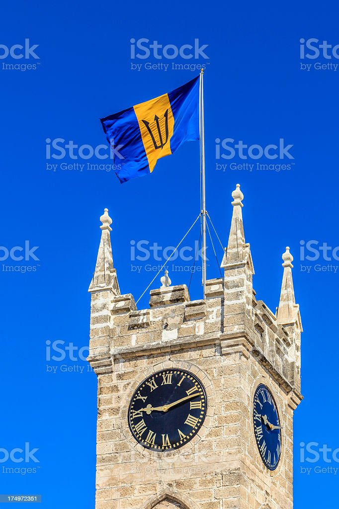 Parliament Building Tower, Bridgetown, Barbados royalty-free stock photo