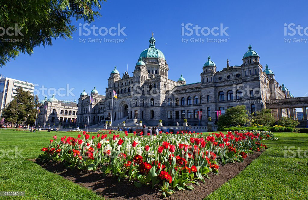 Parliament building, Victoria, Canada stock photo