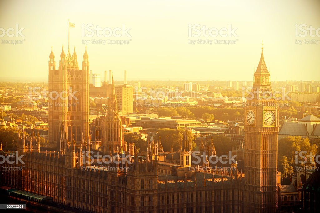 Parliament Buildings At Westminster Bridge royalty-free stock photo