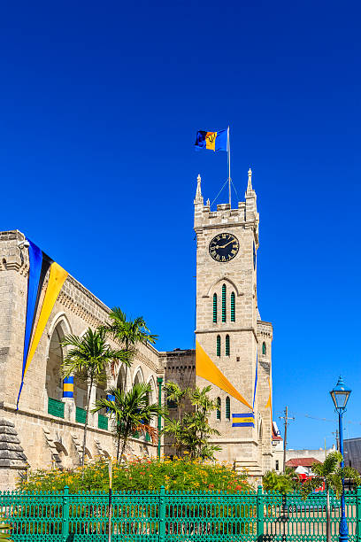 Parliament Buildings, Bridgetown, Barbados stock photo
