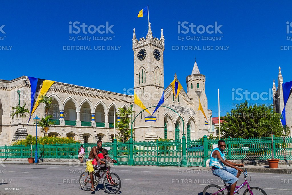 Parliament Buildings, Bridgetown stock photo