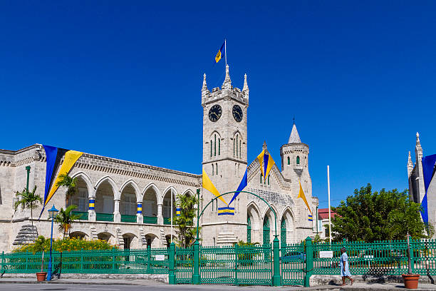 Parliament Buildings, Bridgetown stock photo