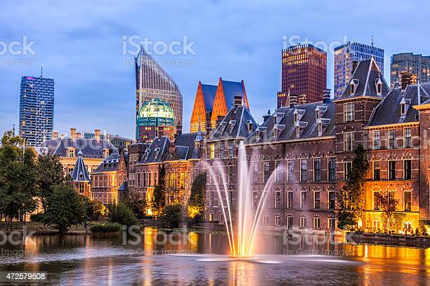 Parliament Buildings In The Hague Stock Photo - Download Image Now
