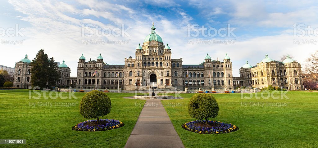 Parliament buildings in Victoria, British Columbia stock photo