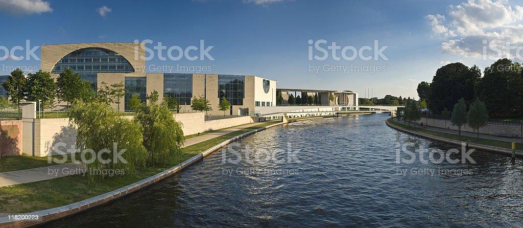 Parliament Buildings, River Spree, Berlin stock photo