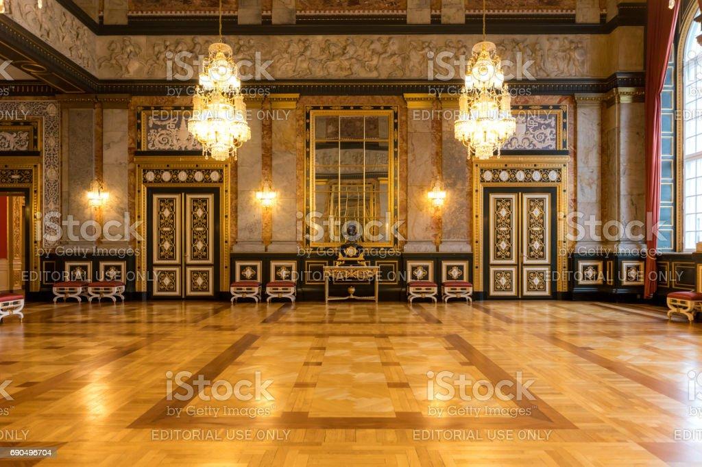 Parliament Christiansborg palace stock photo