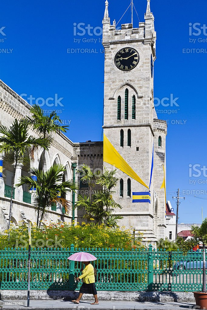 Parliament Clock Tower, Bridgetown stock photo