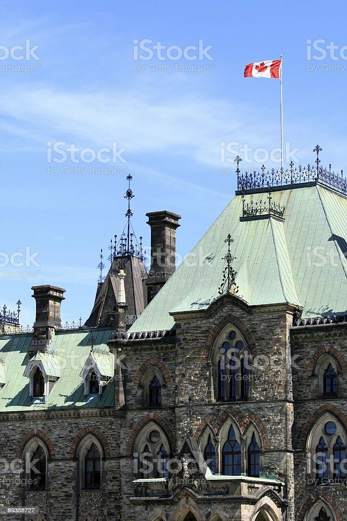 Parliament - East Block royaltyfri bildbanksbilder