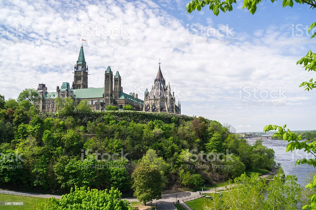 parliament hill and river royalty-free stock photo