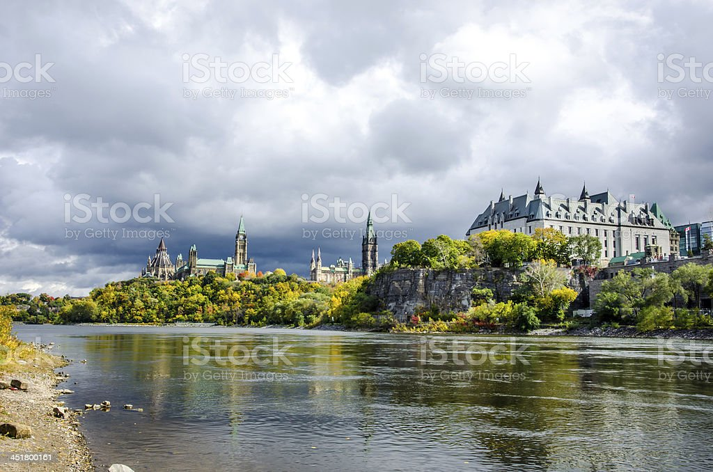 Parliament Hill and the Supreme Court of Canada stock photo