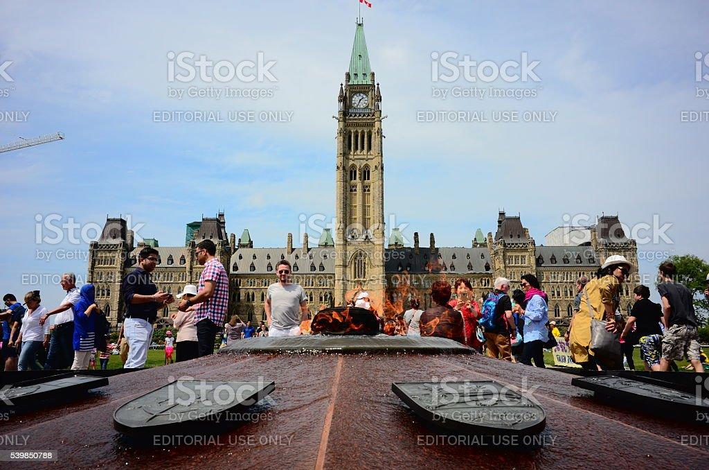 Parlamento Colina, Ottawa, en Canadá capital - foto de stock