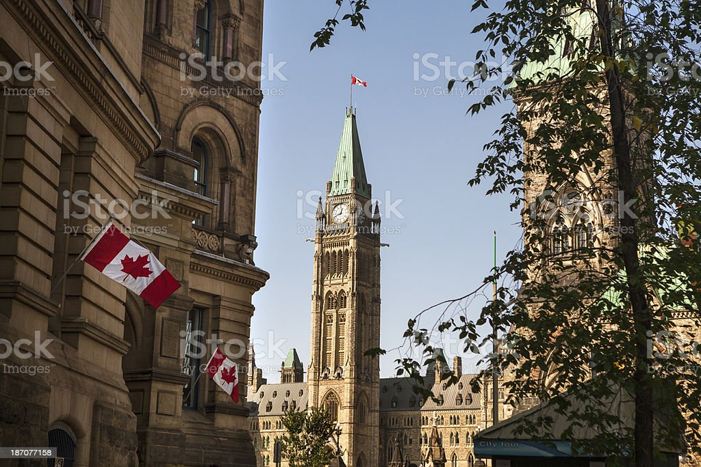 Parliament Hill in Ottawa stock photo