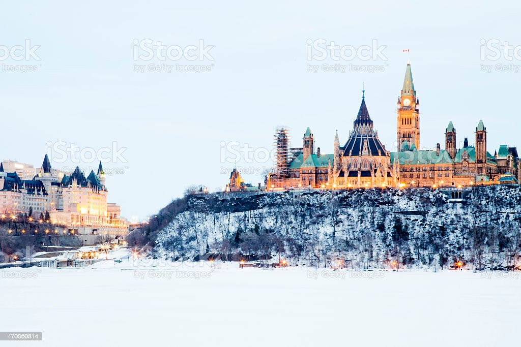 Parliament hill in Ottawa royalty-free stock photo