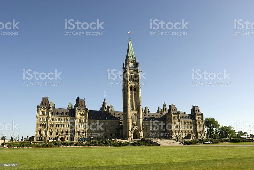 Parliament Hill Morning royalty-free stock photo