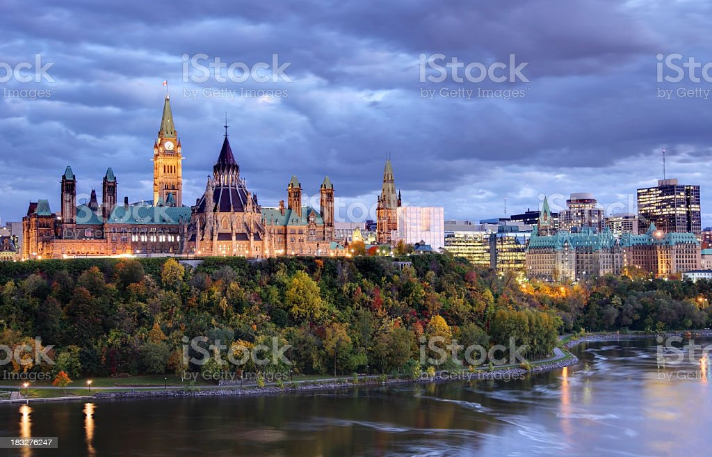 Parliament Hill  Ottawa, Canada stock photo