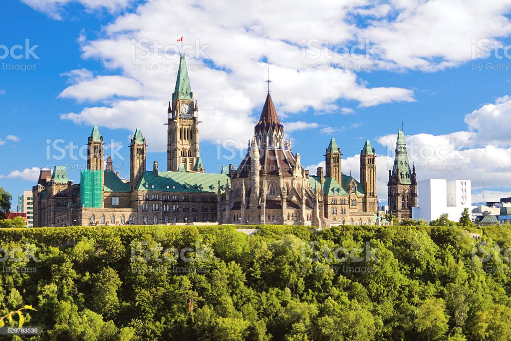 Parliament Hill, Ottawa, Ontario, Canada stock photo