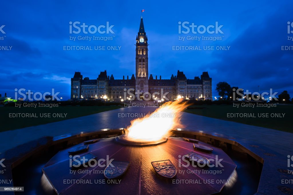 Parliament Hill - Ottawa, Ontario, Canada royalty-free stock photo
