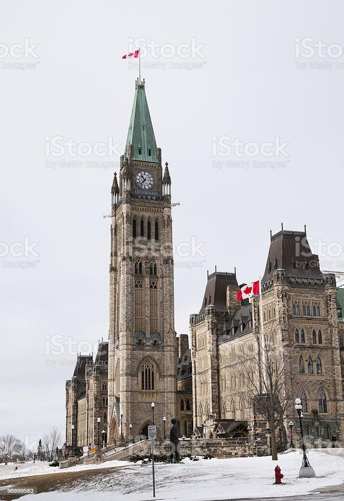 Parliament Hill Ottawa royalty-free stock photo