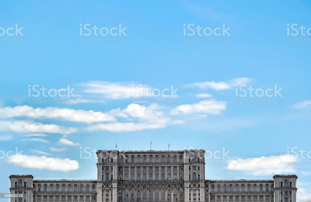 Parliament House and sky blue foto