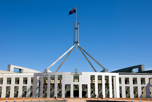 Parliament House - Australia stock photo