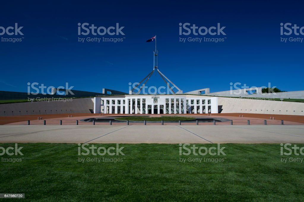 Parliament House Canberra Australia stock photo