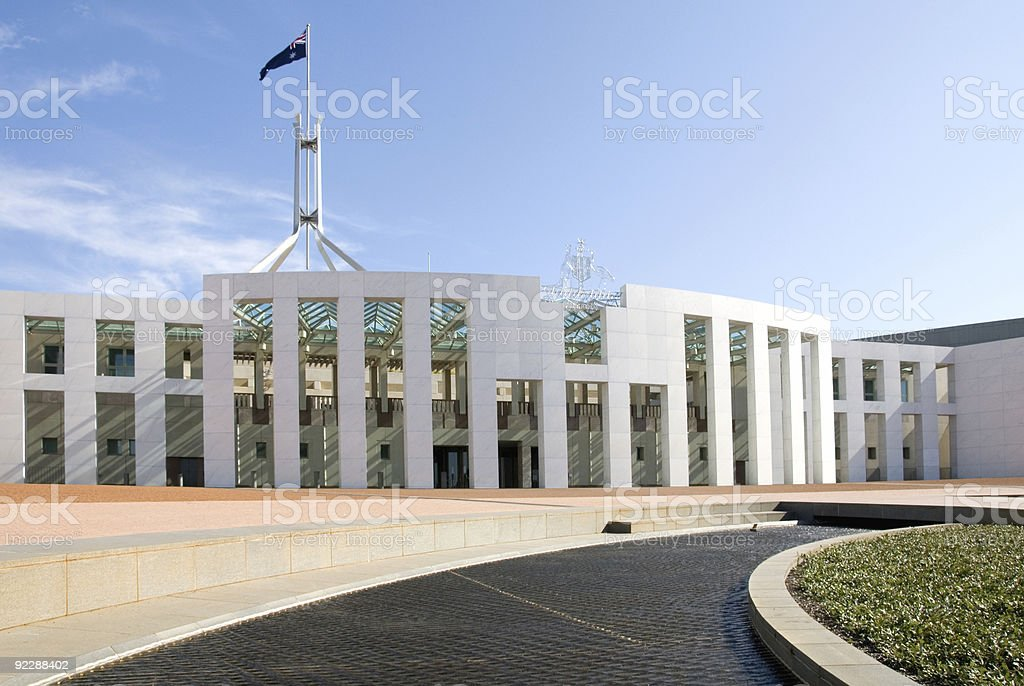 Parliament House, Canberra, Australia stock photo