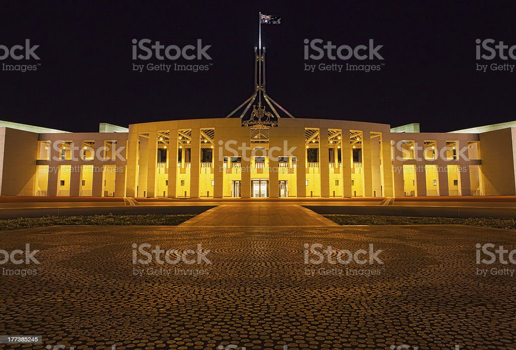 Parliament House Canberra - SES Week stock photo