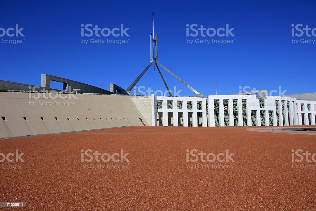 Parliament House Courtyard stock photo